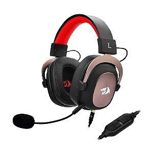 Headset Gamer Redragon Zeus 7.1 Preto e Vermelho com fio - PC