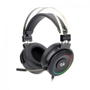 Headset Gamer Redragon Lamia 7.1 RGB Preto com fio - PC