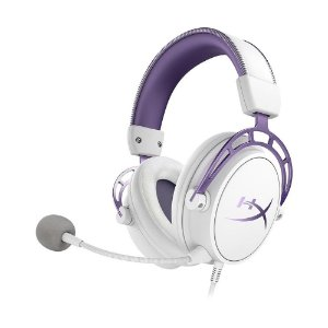 Headset Gamer HyperX Cloud Alpha Branco com fio - Multiplataforma