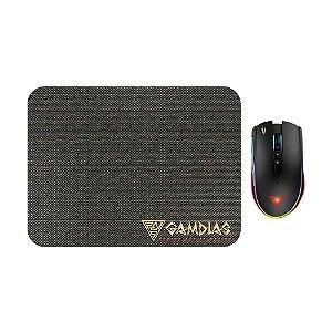 Kit Mouse e Mousepad Gamer Gamdias Zeus M2 RGB com fio