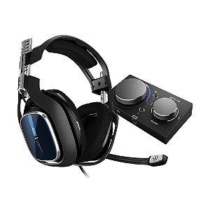 Headset Astro A40 + MixAmp Pro TR Azul com fio - PS4 e PC