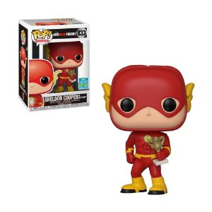 Boneco Sheldon Cooper as The Flash 833 The Big Bang Theory (Limited Edition) - Funko Pop!