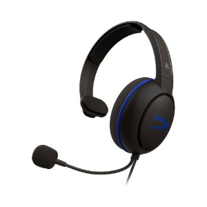 Headset Gamer HyperX Cloud Chat Preto e Azul com fio - PS4