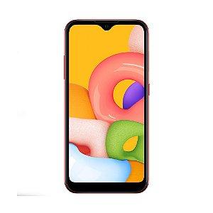 "Smartphone Samsung Galaxy A01 32GB 13MP Tela 5.7"" Vermelho"