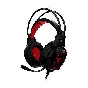 Headset Gamer Gamdias Eros E2 Preto e Vermelho - Multiplataforma