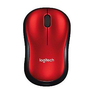 Mouse Logitech M185 Vermelho sem fio