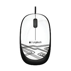 Mouse Logitech M105 USB Branco com fio