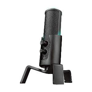 Microfone Condensador USB 4 em 1 Trust Fyru GXT 258 Preto - PS4, PC e Mac