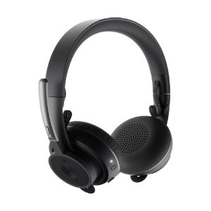 Headset Logitech Zone Wireless Plus Preto sem fio - PC e Mobile