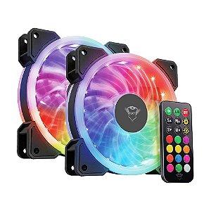 Fan Trust GXT 770 RGB 1200 RPM (2 Pack) - PC