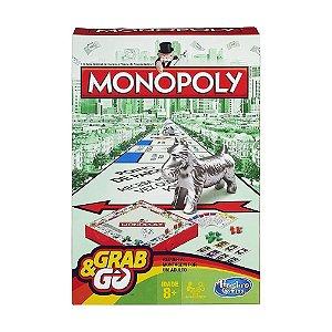 Jogo de Tabuleiro Hasbro Monopoly Grab & Go