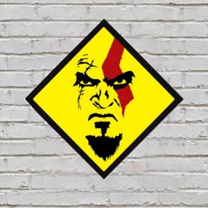 Placa de Parede Decorativa: Kratos - ShopB