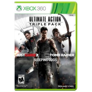 Jogo Ultimate Action Triple Pack: Just Cause 2 + Sleeping Dogs + Tomb Raider - Xbox 360
