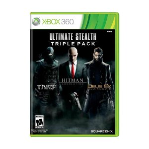 Jogo Ultimate Stealth Triple Pack: Thief + Hitman: Absolution + Deus Ex: Human Revolution - Xbox 360