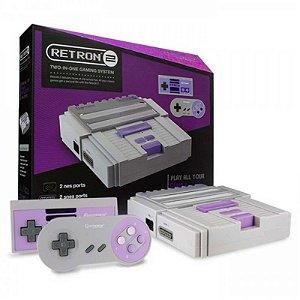 Console 2 em 1 Hyperkin Retron 2 Branco - NES e SNES