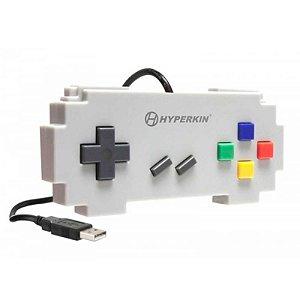 Controle Hyperkin Pixel Art Super Famicom Branco USB - PC e Mac