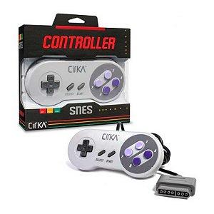 Controle SNES Hyperkin S91 Cirka Cinza com fio - Super Nintendo
