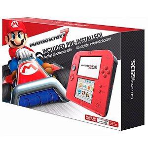 Console Nintendo 2DS Vermelho Carmesim + Mario Kart 7 - Nintendo