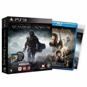 Jogo Terra Média: Sombras de Mordor + Filme - PS3