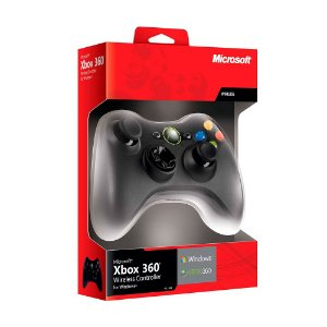 Controle Microsoft sem fio com receiver - PC e Xbox 360