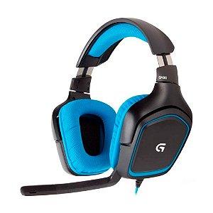 Headset Gamer Logitech G430 7.1 com fio - PC