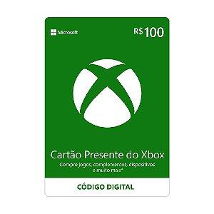 Cartão Presente R$100 Xbox Live Brasil - Microsoft