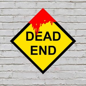 Placa de Parede Decorativa: Dead End - ShopB