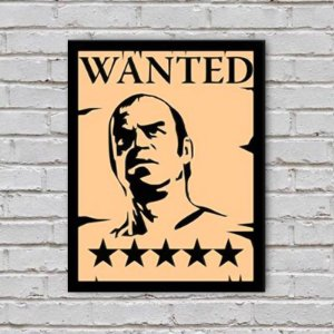 Placa de Parede Decorativa: Trevor Wanted - ShopB