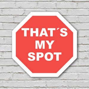 Placa de Parede Decorativa: Thats My Spot - ShopB