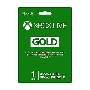 Cartão Xbox Live Gold 1 mês - Microsoft