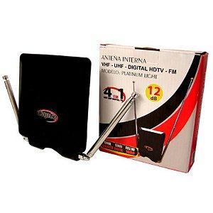 Antena Interna Platinum Light 12db (4 em 1) - VHF, UHF, FM e Digital