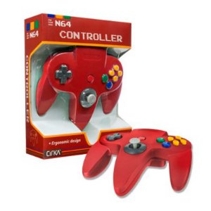 Controle N64 Hyperkin Cirka Vermelho com fio - Nintendo 64