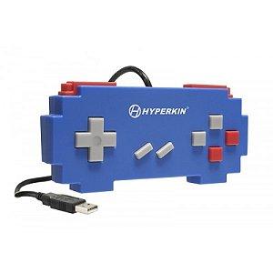 Controle USB Hyperkin Pixel Art Super Famicom Azul com fio - PC e Mac