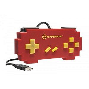 Controle USB Hyperkin Pixel Art Super Famicom Vermelho com fio - PC e Mac