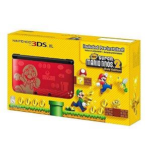 Console Nintendo 3DS XL Vermelho New Super Mario Bros 2 (Edição Especial) - Nintendo