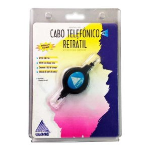 Cabo Telefônico Retrátil Clone 1.2m