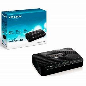 Modem Roteador Tp-link ADSL2 + TD-8816