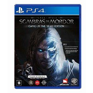 Jogo Terra Média: Sombras de Mordor (GOTY) - PS4