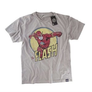 Camiseta Studio Geek The Flash Cinza DC Comics - Modelo 2