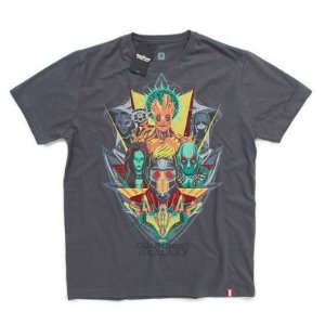 Camiseta Studio Geek Guardiões da Galáxia Rostos Marvel - Modelo 1