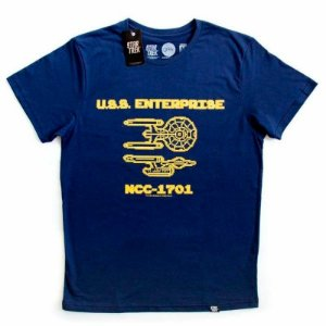 Camiseta Studio Geek Enterprise 8 Bits Star Trek - Modelo 2