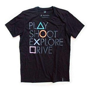 Camiseta Studio Geek Botões PlayStation - Modelo 1