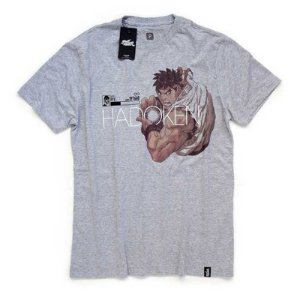 Camiseta Studio Geek Street Fighter Ryu Hadoken Capcom - Modelo 1