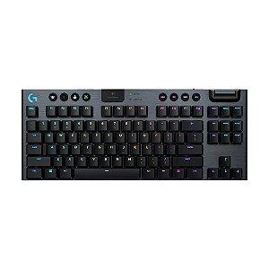 Teclado Mecânico Gamer Logitech G915 TKL Lightspeed RGB Switch GL Tactile US sem fio