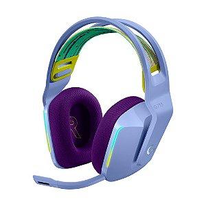 Headset Gamer Logitech G733 7.1 Lilás RGB sem fio - PC e PS4