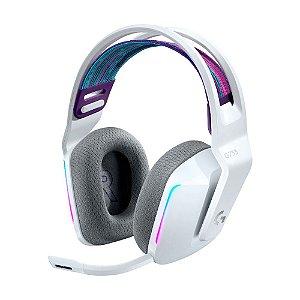 Headset Gamer Logitech G733 7.1 Branco RGB sem fio - PC e PS4