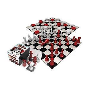 Jogo de Tabuleiro Gulliver Xadrez e Damas