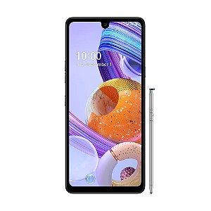 """Smartphone LG K71 128GB 48MP Tela 6,8"""" Titanium"""