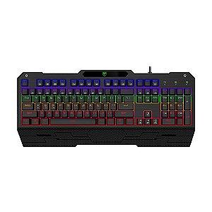 Teclado Mecânico Gamer T-Dagger Battleship T-TGK301-BL Rainbow Switch Blue PT com fio