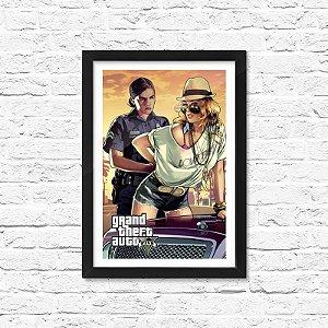 Pôster Emoldurado ShopB Grand Theft Auto V (GTA 5) - Modelo 2